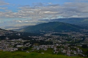 View of Quito city