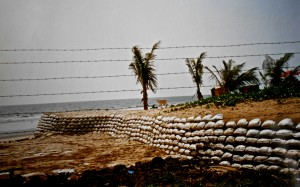The barbed wire beach